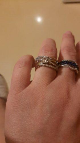 14K Rose Gold Anillos Diamond Ring photo review