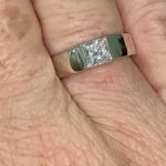 Solid Platinum Ring Square Shape photo review